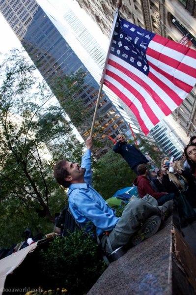 occupy nyc flagman photo ooaworld