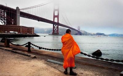 Photos San Francisco Bay Area Golden Gate Bridge Monk USA road trip photo ooaworld