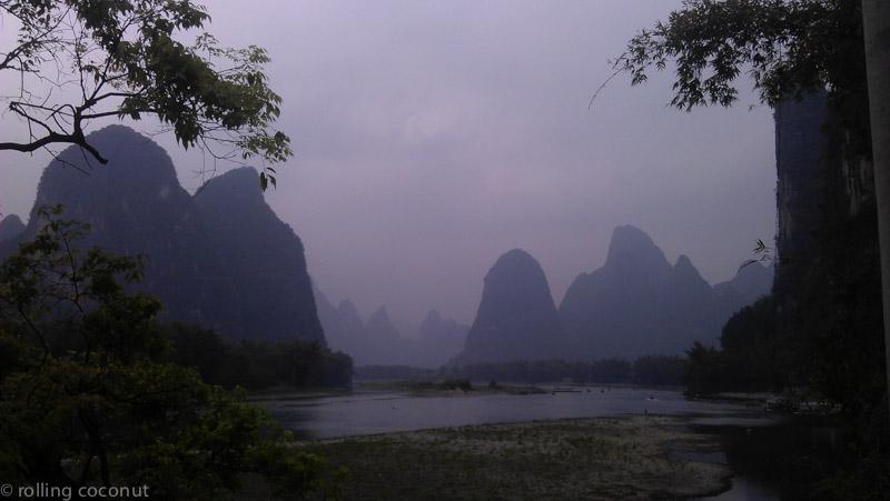 View of Xinping near Yangshuo, as featured on the 20 yuan bill