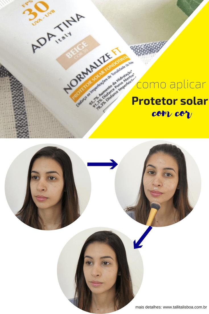 Protetor solar com cor para peles maduras