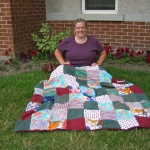 Heather with First Quilt 2 - 2004
