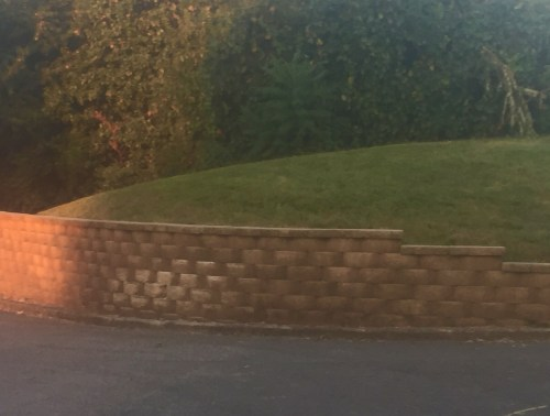 Cracker Barrel Retaining Wall