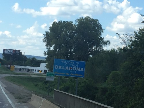 Welcome to Oklahoma along I 40 W