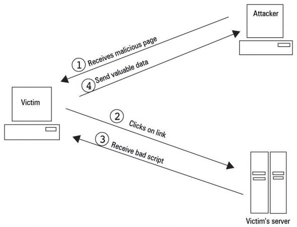 Stepwise attack using reflected vulnerability
