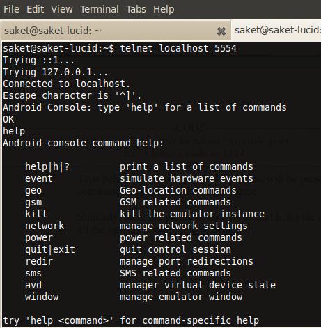 Emulator instance control console