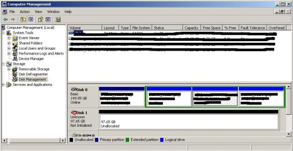 Dynamic disk discovered