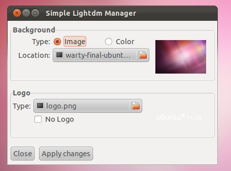 Simple LightDM manager
