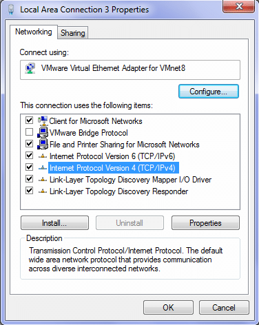 Windows Adapter Setting