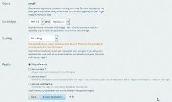 Figure 4: WordPress configuration on OpenShift-II