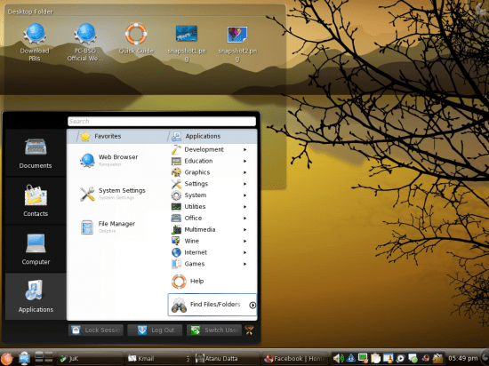 Figure 2: My desktop after changing a few things