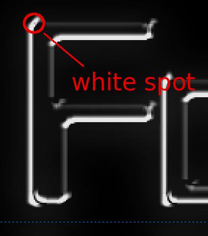 Pencil Spot (section)