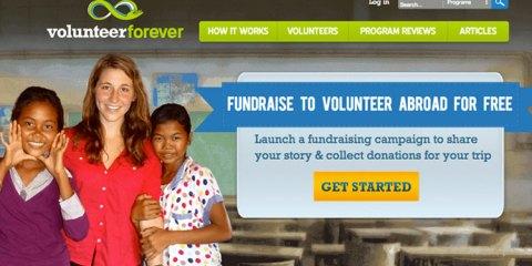 Volunteer Forever, a crowdfunding website for volunteers.