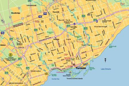 Map Of Tornot - Toronto on us map