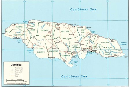 jamaica map 1