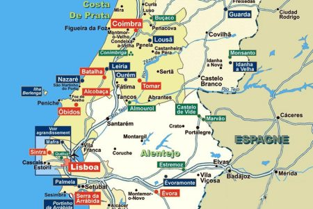 Map Of Tomar Portugal - Portugal map tomar