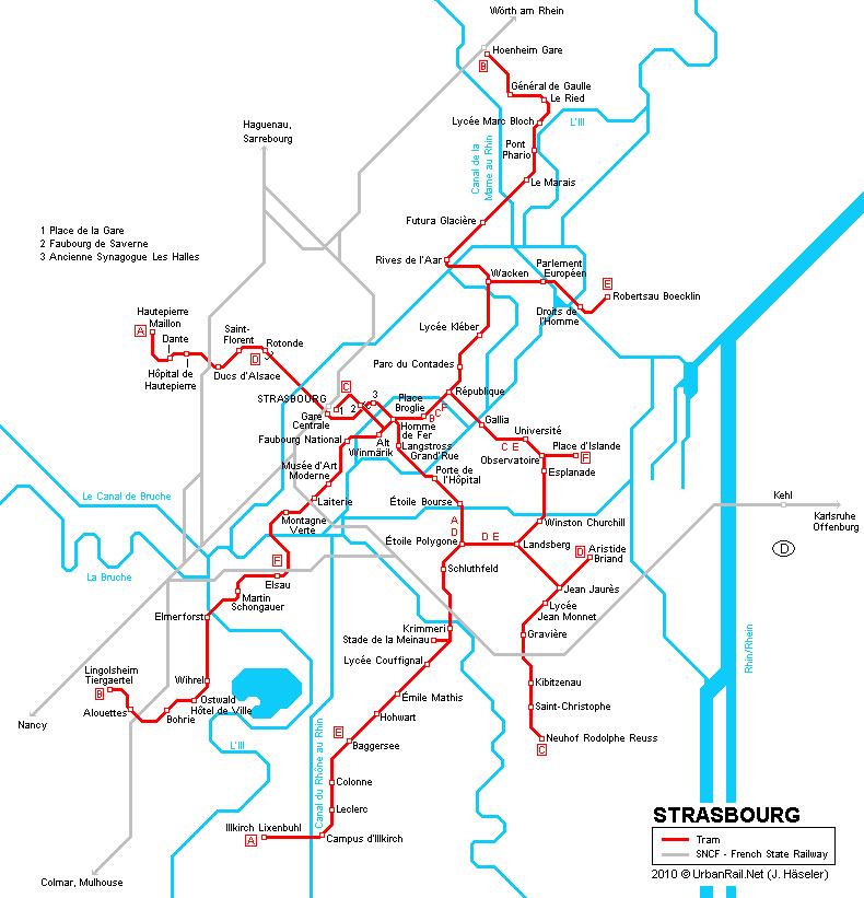 map tram strasbourg
