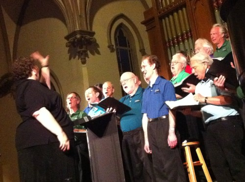Satori Men's Chorus sang at Portland's Old Church