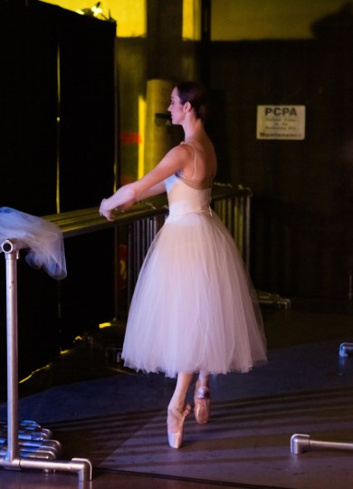 Alison at the barre: concentration and poise. Photo: Blaine Truitt Covert/2014