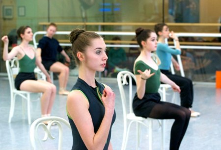 """The young dancers of OBT2 rehearsing Spaight's """"Crayola."""" Photo: Friderike Heuer"""