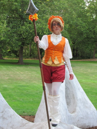Erica Smith plays Cardverse Canada, an anime character in the Hetalia series./Photo by  Stacie Looney