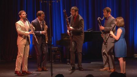 The Acropolis Reed Quintet performed at Portland's Alberta Rose Theatre. Photo: Tom Emerson.