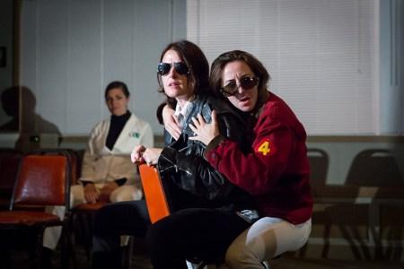 "Erika Latta and Julie Hammond in ""Time, A Fair Hustler.""/Anna M. Campbell"