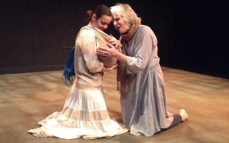 Danielle Pecoff (left) as Andromeda and Elizabeth Ware as Hecuba. Photo: Julie Marks