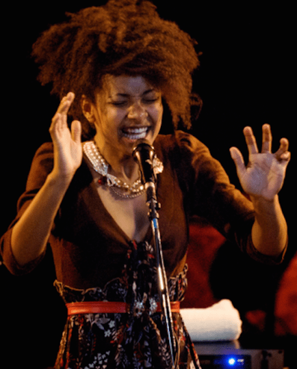 "Esperanza Spalding, in Lynn Darroch's ""Rhythm in the Rain"": back to the roots. Photo: Andrea Mancini"