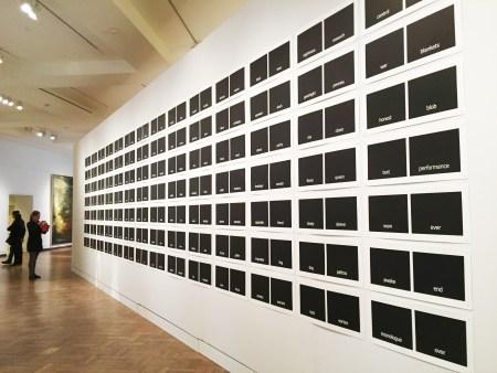 Victoria Haven, Subtitles, 2015, woodblock prints, each image 12x27 ¾ inches. Photo: Paul Sutinen