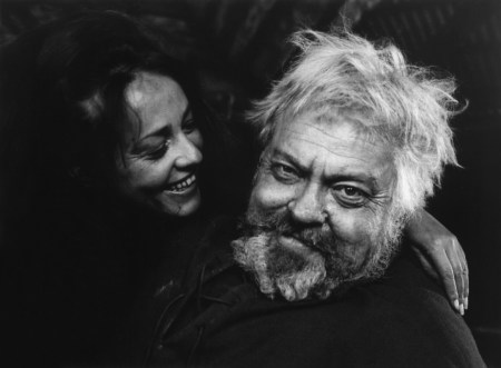"Jeanne Moreau as Doll Tearsheet and Orson Welles as Falstaff in ""Chimes at Midnight"""