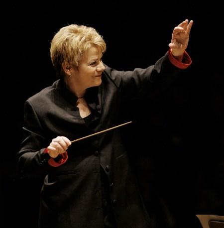 Marin Alsop leads the Eugene Symphony again Thursday. Photo: Grant Leighton.