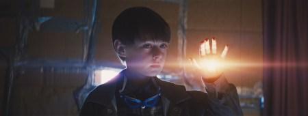 """Jaeden Lieberher says hello in a scene from """"Midnight Special."""""""