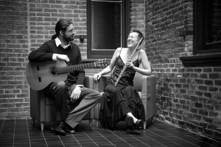 Duo Damiana perform in Eugene.