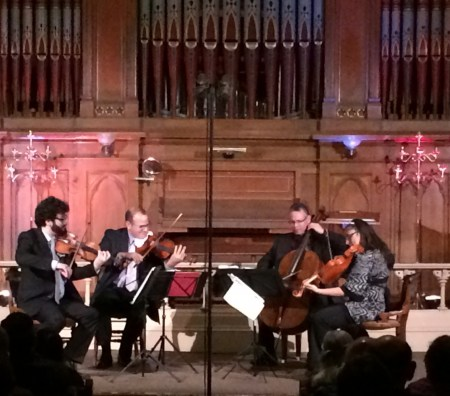 The Dali Quartet performed at The Old Church in Friends of Chamber Music's Not So Classic Series. Photo: John Green.