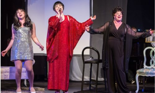 The three Lizas, belting 'em out. Triangle Productions photo.