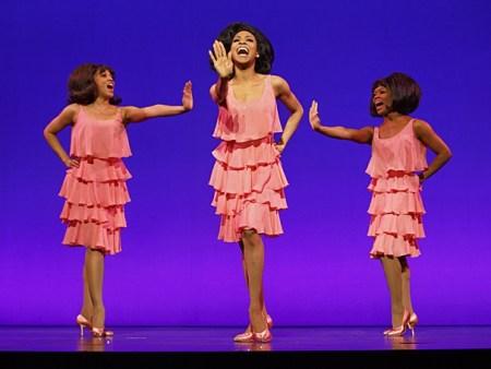 Krisha Marcano (Florence Ballard), Allison Semmes (Diana Ross) & Trisha Jeffrey (Mary Wilson). Photo: Joan Marcus