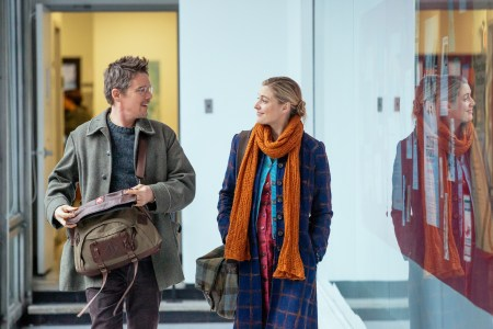 "Ethan Hawke and Greta Gerwig in ""Maggie's Plan."""