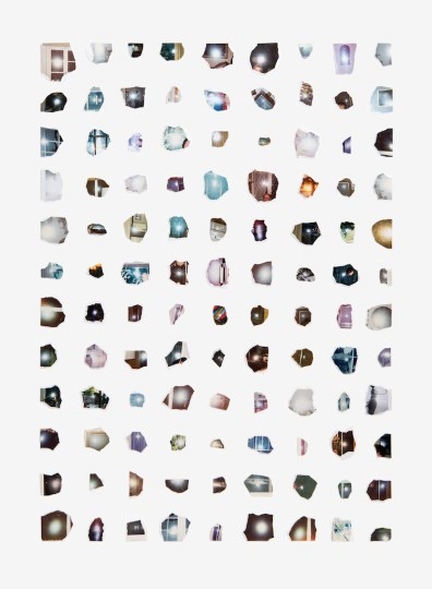 "Joe Rudko, ""Reflected Light"", 2016, torn photographs on paper, 30"" x 22"""