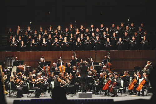 Berwick Choras and Festival Orchestra at full throttle. Photo: Athena Delene