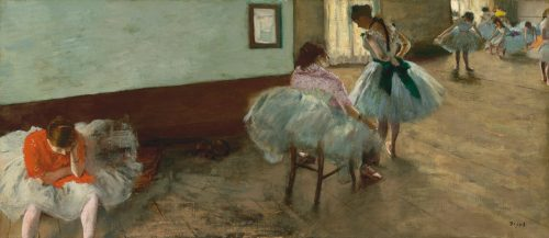 "Edgar Degas), ""The Dance Lesson,"" c. 1879, oil on canvas, Collection of Mr. and Mrs. Paul Mellon. National Gallery of Art, Washington, D.C."