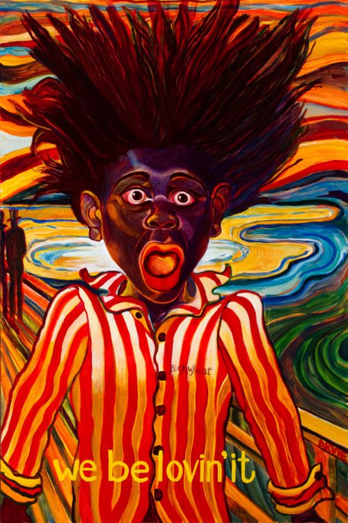 "Arvie Smith, ""We Be Lovin' It,"" 2009, oil on canvas, 60 x 40 inches, collection of the artist."