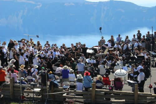 The Britt Orchestra at Crater Lake. Photo: Jim Teece