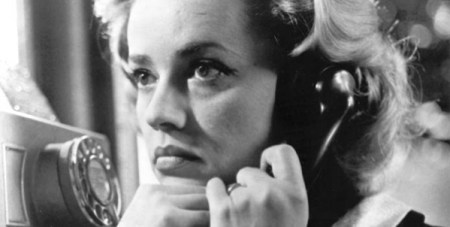 "Jeanne Moreau in Louis Malle's ""Elevator to the Gallows."""