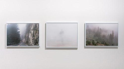"Kris Graves, ""Mount Rainier, Washington, #2,"" 2015, 15 x 21 inches; ""Matthew,Iceland,"" 2013, 16 x 20 inches; ""Mount Rainier, Washington, #1,"" 2015, 15 x 21 inches. Archival pigment prints."