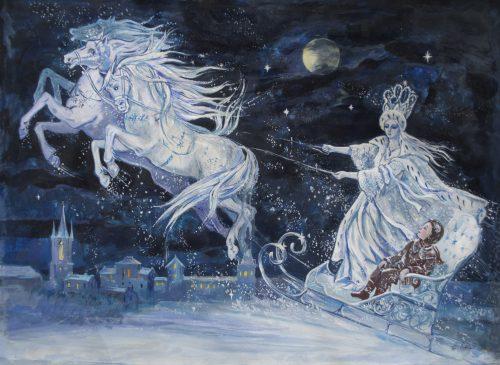 "Elena Ringo, illustration for Hans Christian Andersen's ""The Snow Queen,"" 1903. Wikimedia Commons"