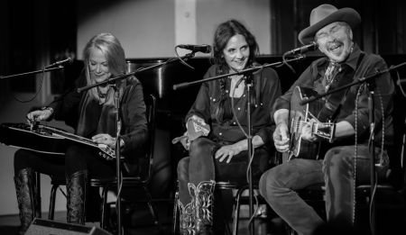 Cindy Cashdollar, Christy McWilson & Dave Alvin performed at a Roots on the Rails show in Portland.