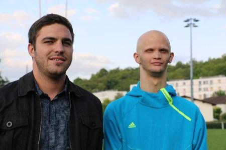 Maxime Verdier (à gauche) et Pierre Menanteau sont les deux arbitres du club.