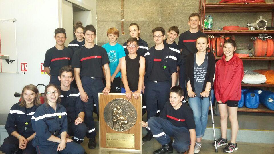 Le Bouclier avec les jeunes Sapeurs-Pompiers de Saint-Amand Tallante