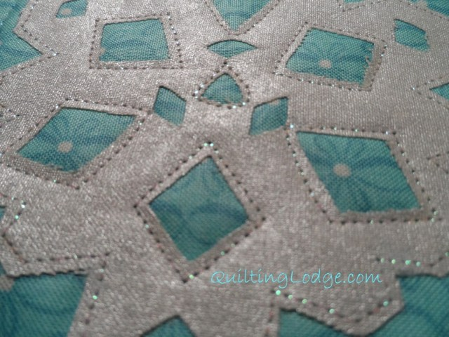 Quilting Lodge Snowflake Coaster Close Up
