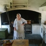 In the kitchen building.